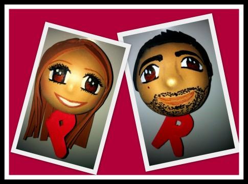 Fofuchas personalizadas Imán: Patricia y Rober